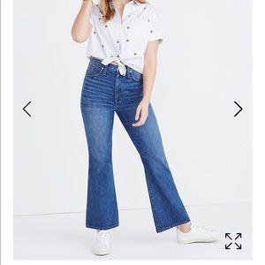 Madewell Rigid Flare Jeans Hi Rise Denim size 31